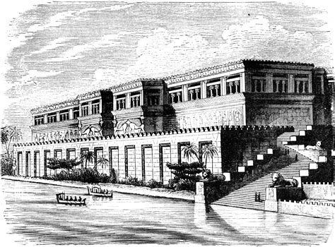 Rendering of an Assyrian Palace