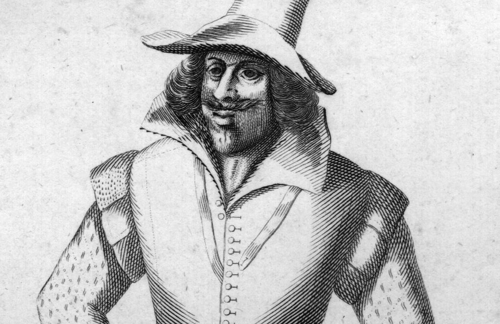 A drawing of Guy Fawkes