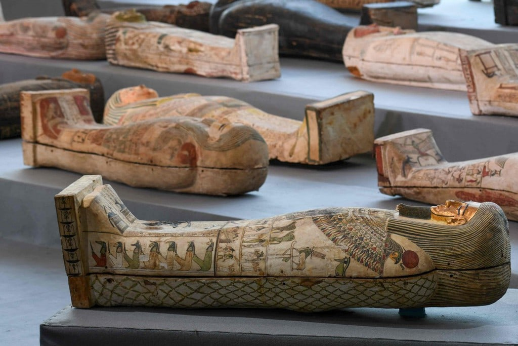 trove of over 100 sarcophagi in Egypt