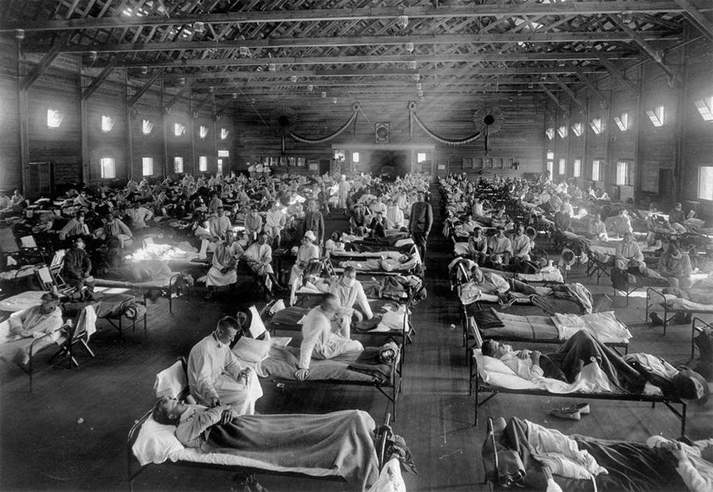 The influenza pandemic 1918 - the same year WWI ended