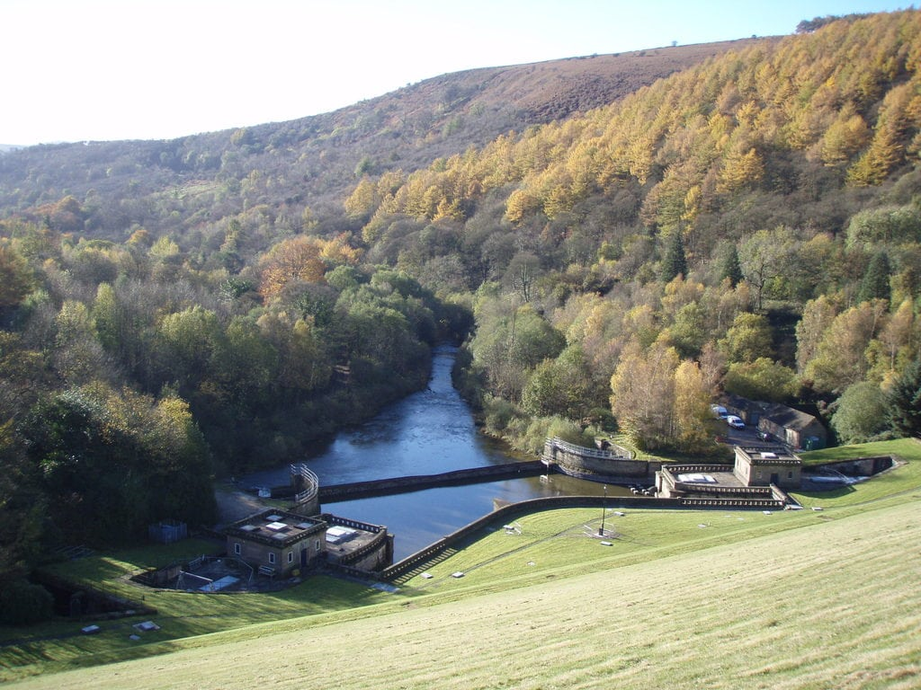 Mills along River Derwent in Derwent Valley Mills