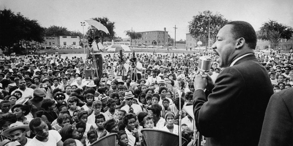 Martin Luther King, Jr. had prepared his speech, without the phrase, but later improvised and added it in.